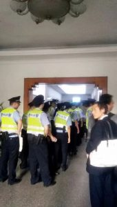 police officers rushed into the church building of the Early Rain Covenant Church in Chengdu.