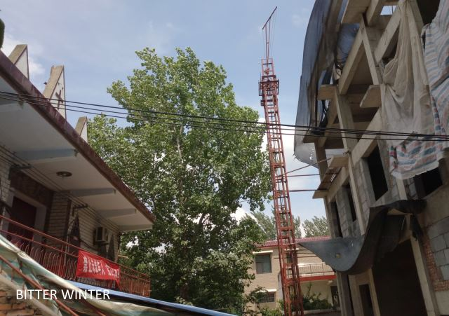churches demolished in Zhaihouchen Village, Xuchang City, Henan Province