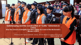 The McDonald's Murder Remembered at the World Congress of Sociology