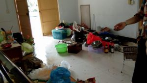 A room in the House of Mercy after its closure