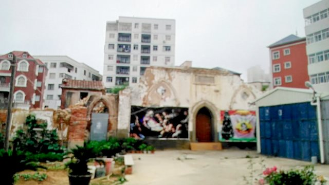 This Catholic church has become dilapidated and is unsafe for use.