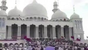 The demonstration of August 8, 2018, with 30,000 Muslims preventing the demolition of a mosque outside Xinjiang