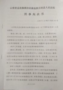 written criminal ruling of John Cao 1