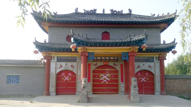 Dragon King Temple at Longze Lake in Shangqiu city is forcibly shut down.