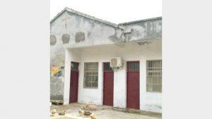 After Jiang Zhuang Church of Yuhuang Village, Shunhe Town was shut down, its cross was covered