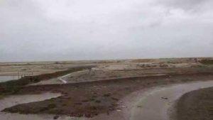 Licuo village's mudflat sea area.