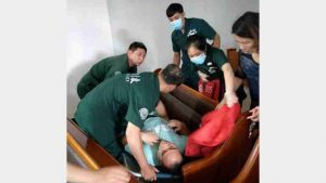 The preacher, Mr. Zhao, who was beaten and injured (provided by an inside source)