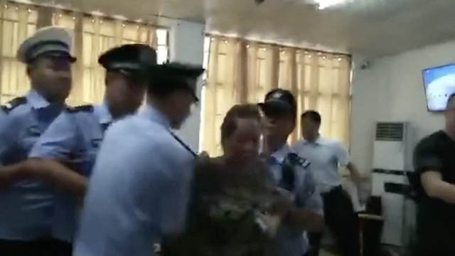 Police arresting a person