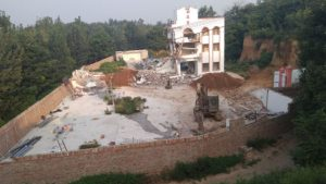 The church under the demolition (provided by an inside source)