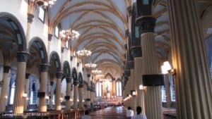 The interior of Saint Dominic Cathedral of Fuzhou