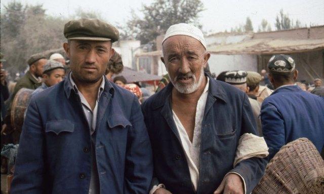 Two Men Uyghurs in Xinjiang