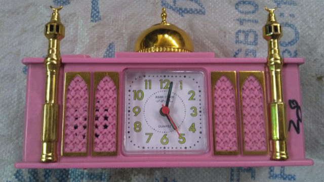 All clocks bearing Islamic motifs or scripture are removed from store shelves, and their sale is prohibited. (provided by an inside source)