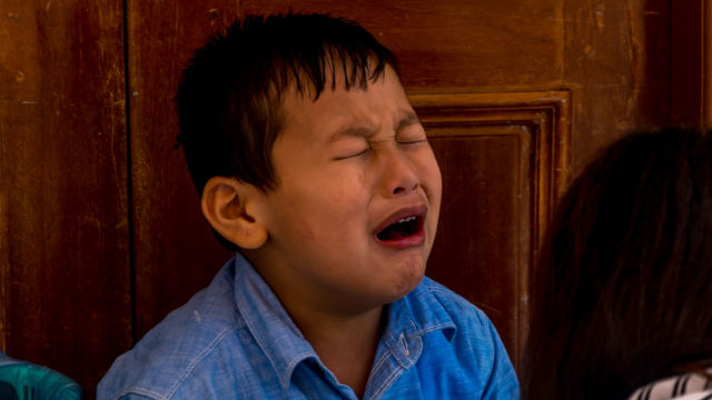 Child crying (taken from the Internet)