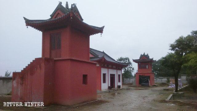 The original appearance of the Fangshan Temple's towers