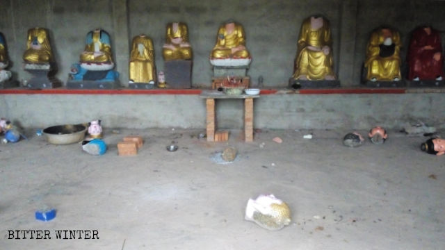 local officials destroyed many Buddhist statues