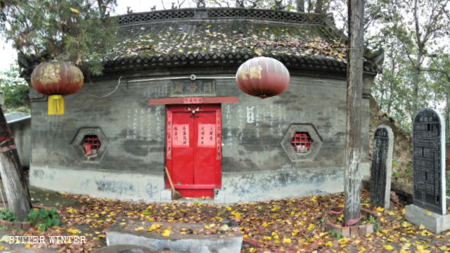 Memorial Temple of Lord Guan, built to commemorate general Guan Yu who died in 220, in Cuizhuang village is locked.