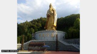 World's Tallest Bronze Statue of Laozi Hidden by State (VIDEO)