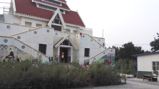 Yufo Temple before being demolished