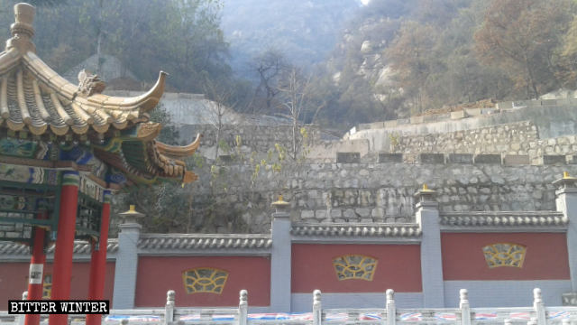 The Dragon King palace hall after demolition.