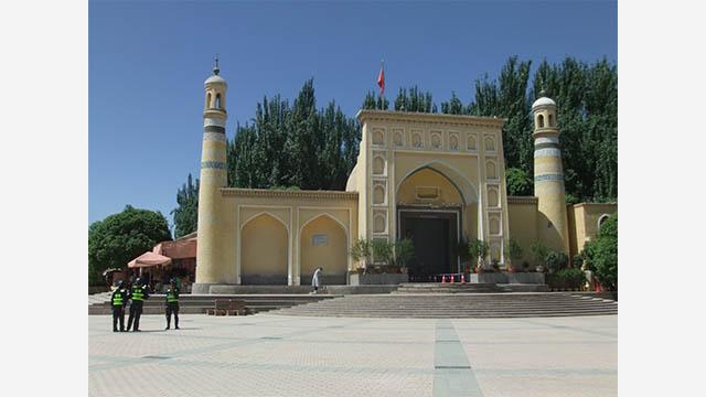 Friday prayers in Kashgar 2018