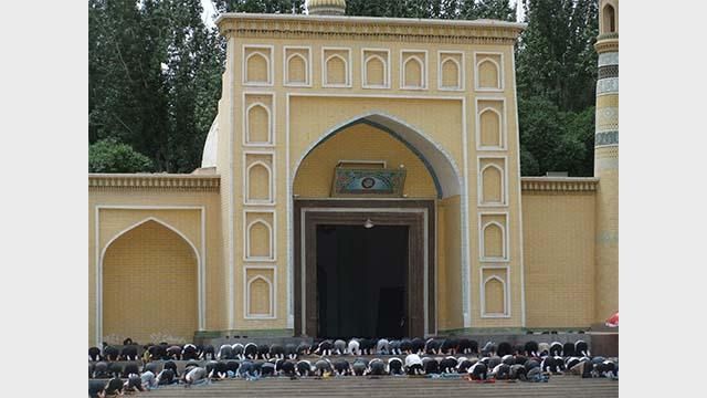 Friday prayers in Kashgar Southern Xinjiang