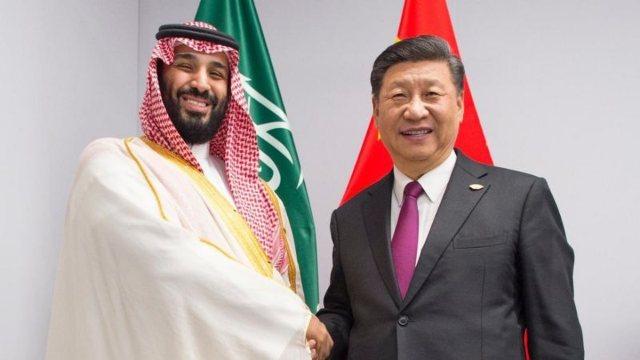 Mohammed bin Salman and Xi Jinping