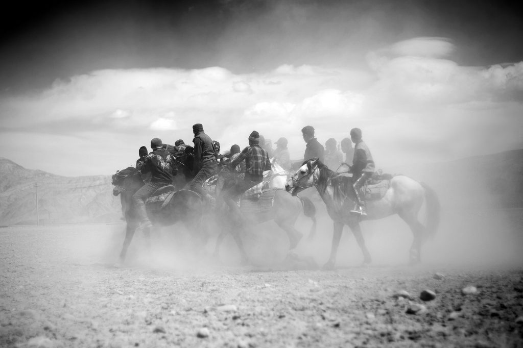 Teams of knights compete in the Buzkashi, the signature sport of the nomadic populations of Central Asia.