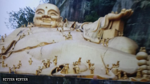The original appearance of Maitreya statue