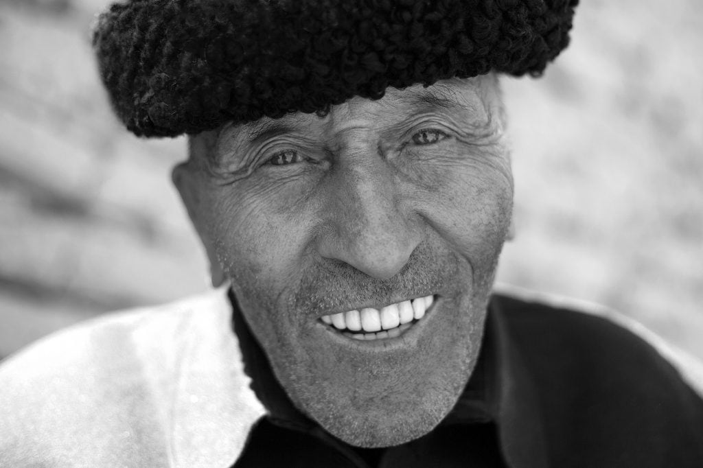 An old man in a village in the Tashkurgan Tajik Autonomous County.