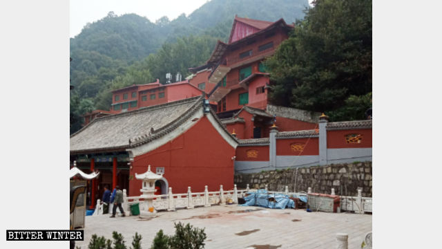 Theoriginalappearance of the Dragon King palace hall.