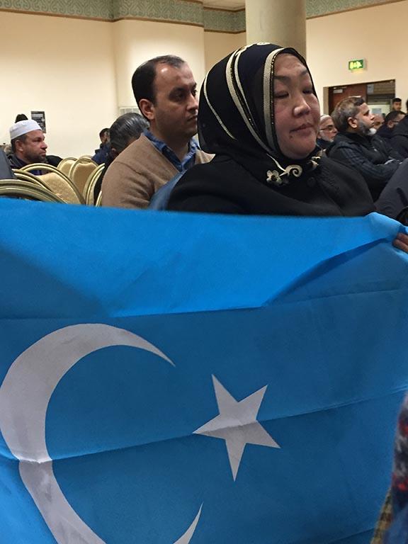 unfurling the flag of East Turkestan