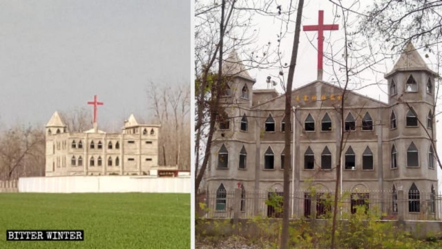 The original appearance of Wangzhai Church in Huodian town, Xiayi county.