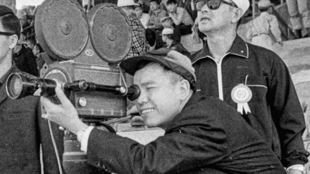 old black and white photographs with a Chinese camera operator