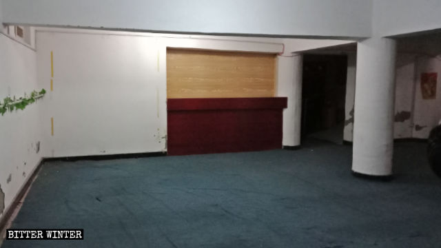 the venue's furnishings were cleared out