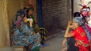women uyghur with babies