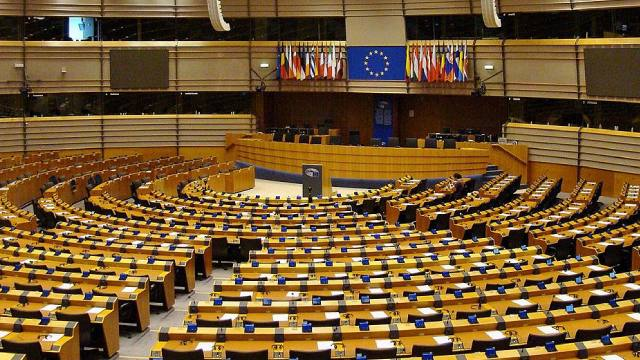 European Parlament Hemicycle Brussels