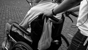a men on a wheelchair