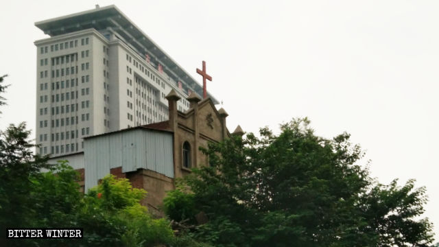 The Three-Self church in Miaonan village before the demolition.