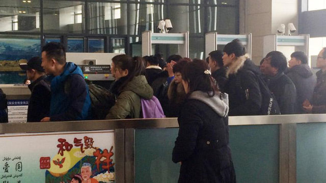 Travelers leaving Xinjiang are also required to undergo thorough security control procedures