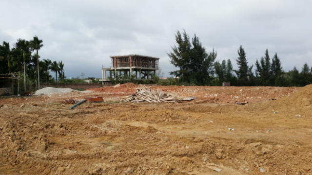 The church building was razed to theground.
