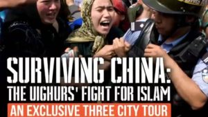 Uyghur women protesting in China