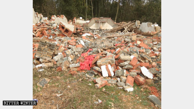 Chengjia Three-Self Church was demolished into ruins