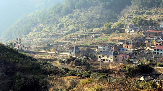 Countryside village in Lishui China