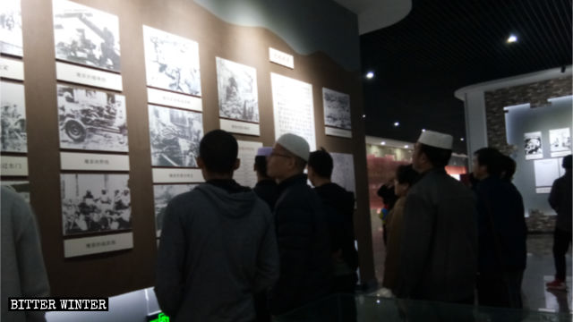 Hui Muslims at a commemoration revolutionary exhibition.