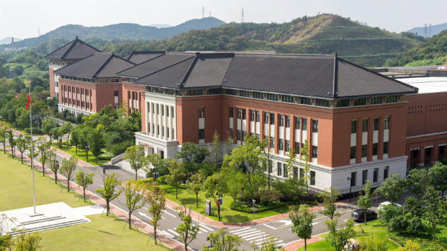 view of an university in china