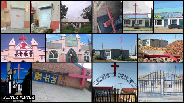 Crosses dismantled from over a hundred Christian meeting venues