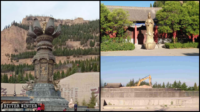 The Guanyin statue was dismantled in May.
