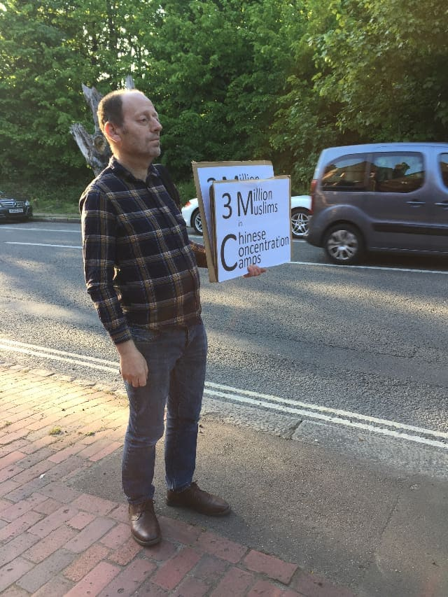 Mr. Baruch Solomon, a secular Jew, also joined Andrew in his protest.