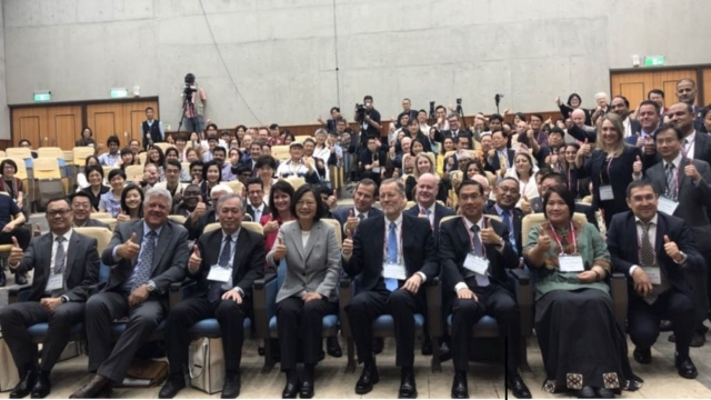 President Tsai and conference participants