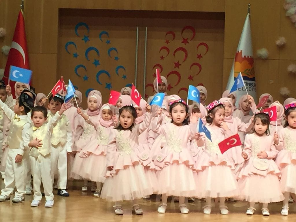 "Uyghur children, many of them ""orphans,"" at a Ramadan party in Istanbul."